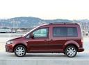 Фото авто Volkswagen Caddy 3 поколение [рестайлинг], ракурс: 90 цвет: красный