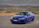 Фото авто BMW M5 F90, ракурс: 45 цвет: синий