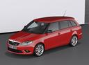 Фото авто Skoda Fabia 5J [рестайлинг], ракурс: 45 цвет: красный