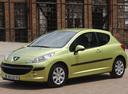 Фото авто Peugeot 207 1 поколение, ракурс: 45 цвет: салатовый