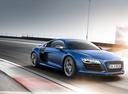 Фото авто Audi R8 1 поколение [рестайлинг], ракурс: 315 цвет: голубой