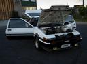 Фото авто Toyota Sprinter Trueno AE85/AE86, ракурс: двигатель