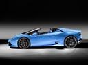 Фото авто Lamborghini Huracan 1 поколение, ракурс: 90 цвет: голубой