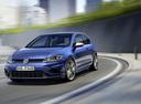 Фото авто Volkswagen Golf 7 поколение [рестайлинг], ракурс: 45 цвет: синий