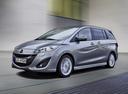 Фото авто Mazda 5 CW, ракурс: 45 цвет: серебряный