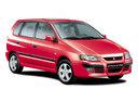 Фото авто Mitsubishi Space Star 1 поколение [рестайлинг], ракурс: 315 цвет: красный