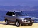 Фото авто Hyundai Santa Fe SM, ракурс: 315 цвет: серебряный