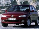 Фото авто Peugeot 306 1 поколение [рестайлинг], ракурс: 45 цвет: бордовый