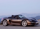 Фото авто Porsche Boxster 981, ракурс: 270 цвет: коричневый
