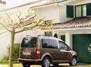 Фото авто Volkswagen Caddy 3 поколение [рестайлинг], ракурс: 135 цвет: коричневый