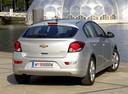Фото авто Chevrolet Cruze J300, ракурс: 180 цвет: серебряный
