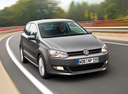 Фото авто Volkswagen Polo 5 поколение, ракурс: 315 цвет: серый
