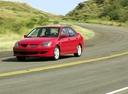 Фото авто Mitsubishi Lancer IX, ракурс: 45 цвет: красный