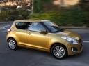 Фото авто Suzuki Swift 4 поколение [рестайлинг], ракурс: 270 цвет: желтый