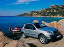 Фото авто Mercedes-Benz M-Класс W163, ракурс: 315 цвет: серебряный