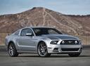Фото авто Ford Mustang 5 поколение [2-й рестайлинг], ракурс: 315 цвет: серебряный