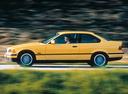 Фото авто BMW 3 серия E36, ракурс: 90 цвет: желтый