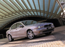 Фото авто Jaguar X-Type 1 поколение, ракурс: 45 цвет: бежевый