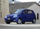 Фото авто Kia Picanto 1 поколение, ракурс: 45 цвет: синий