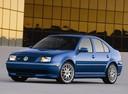 Фото авто Volkswagen Jetta 4 поколение, ракурс: 45 цвет: синий