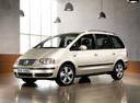 Фото авто Volkswagen Sharan 1 поколение [2-й рестайлинг], ракурс: 45 цвет: бежевый