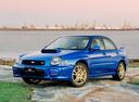 Фото авто Subaru Impreza 2 поколение, ракурс: 45 цвет: синий