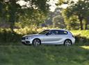 Фото авто BMW 1 серия F20/F21 [рестайлинг], ракурс: 90 цвет: серебряный