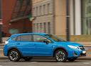 Фото авто Subaru XV 1 поколение [рестайлинг], ракурс: 270 цвет: голубой