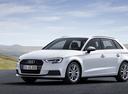 Фото авто Audi A3 8V [рестайлинг], ракурс: 45 цвет: белый