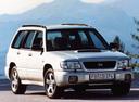Фото авто Subaru Forester 1 поколение, ракурс: 315 цвет: белый