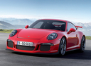 Фото авто Porsche 911 991, ракурс: 45 цвет: красный