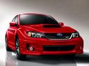 Фото авто Subaru Impreza 3 поколение [рестайлинг], ракурс: 315 цвет: красный