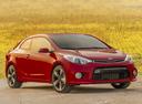 Фото авто Kia Cerato 3 поколение, ракурс: 315 цвет: красный