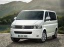 Фото авто Volkswagen Multivan T5 [рестайлинг], ракурс: 45 цвет: белый