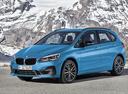 Фото авто BMW 2 серия Active Tourer F45 [рестайлинг], ракурс: 45 цвет: голубой