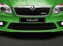 Фото авто Skoda Fabia 5J [рестайлинг], ракурс: передняя часть цвет: зеленый