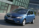 Фото авто Kia Cee'd 1 поколение [рестайлинг], ракурс: 45 цвет: синий