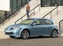 Фото авто Renault Megane 2 поколение [рестайлинг], ракурс: 45 цвет: голубой