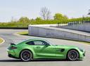 Фото авто Mercedes-Benz AMG GT C190 [рестайлинг], ракурс: 270 цвет: зеленый