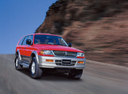 Фото авто Mitsubishi Montero Sport 1 поколение, ракурс: 315 цвет: красный