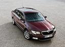 Фото авто Skoda Superb 2 поколение, ракурс: 315 цвет: бордовый
