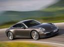 Фото авто Porsche 911 991, ракурс: 270 цвет: бордовый