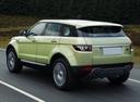 Фото авто Land Rover Range Rover Evoque L538, ракурс: 135 цвет: зеленый