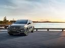 Фото авто Hyundai Santa Fe DM [рестайлинг], ракурс: 45 цвет: мокрый асфальт