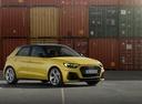 Фото авто Audi A1 2 поколение, ракурс: 45 цвет: желтый