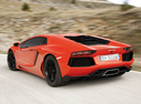 Фото авто Lamborghini Aventador 1 поколение, ракурс: 135 цвет: оранжевый