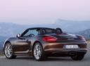 Фото авто Porsche Boxster 981, ракурс: 135 цвет: коричневый