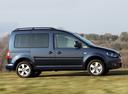 Фото авто Volkswagen Caddy 3 поколение [рестайлинг], ракурс: 270 цвет: синий