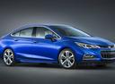 Фото авто Chevrolet Cruze 3 поколение, ракурс: 315 цвет: синий
