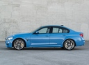 Фото авто BMW M3 F80, ракурс: 90 цвет: голубой
